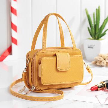 Brenice Women Square 6 Card Holders  Phone Bag Lightweight Multi-Pocket Crossbody Bag
