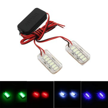 LED Motorcycle Laser Fog Light Anti Collision Tail Auto Brake Warning Lights Parking Lamp