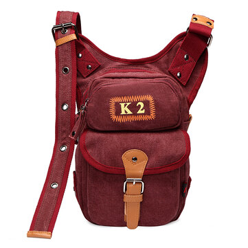 Women Canvas Durable Crossbody Bag Casual Thigh Bag Climbing Bag