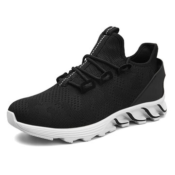 Men Lightweight Breathable Outdoor Athletic Running Shoes Casual Sneakers Slip-on Flat Sport Shoes