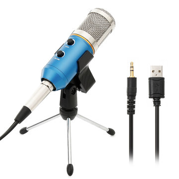 ARCHEER Podcast Recording Microphone Studio Condenser Microphone with Stand