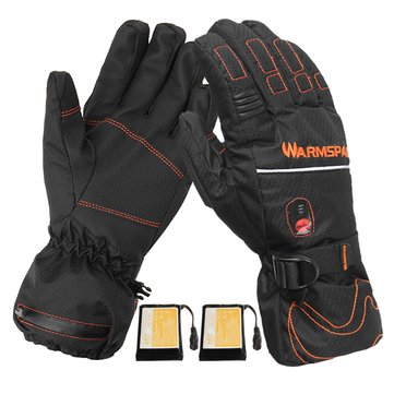 5600mah Rechargeable Heated Gloves Touch Screen Electric Battery Motorcycle Winter Warm Waterproof Skiing