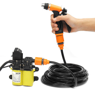 12V High Pressure Car Electric Washer Water Pump Washing Tool + Brush