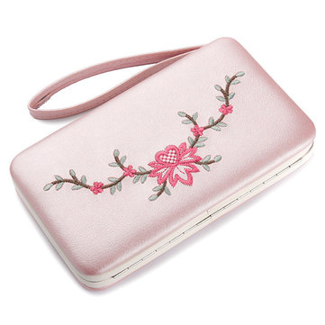 Women Vintage Embroidery Flower Wallet
