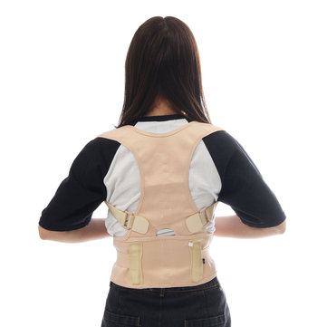 Men Women Sitting Posture Corrector Adjustable Back Brace Belt Shoulder Vertebra Corrector Therapy