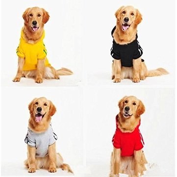 Pet Dog Winter Coat Jacket Clothing For Big Dog Golden Retriever Labrador Dog Hoodie Sports Style
