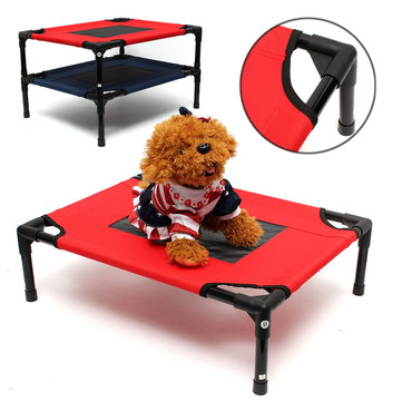 Dog Pet Cat Elevated Bed Folding Portable Raised Camping Indoor Outdoor Foldable Bed