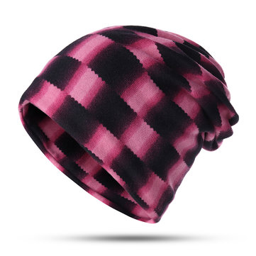 Winter Cotton Double Layers Flexible Beanie Hat