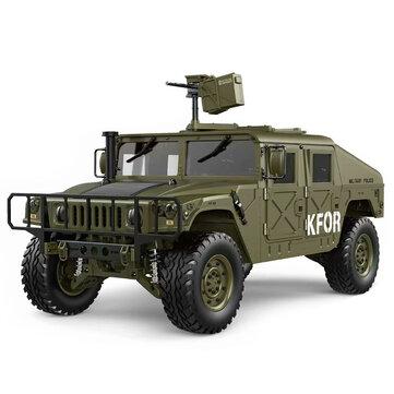 Original HGP4081/102.4G4WD16CH 30 km / h Rc Modelo Coche US4X4 militar Camión de vehículo sin cargador Batería