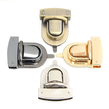 Metal Oval Shape Clasp Turn Twist Lock for DIY Handbag Bag Purse