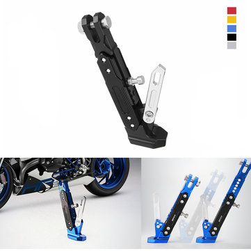 Motorcycle Adjustable Side Tripod Holder Stand Fall Protector Foot Pad Stainless
