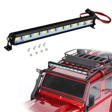 Metal Roof Lamp RC Car LED Light Bar For Traxxas SCX10 D90 R3F6 F6C0 1/10 RC Crawler