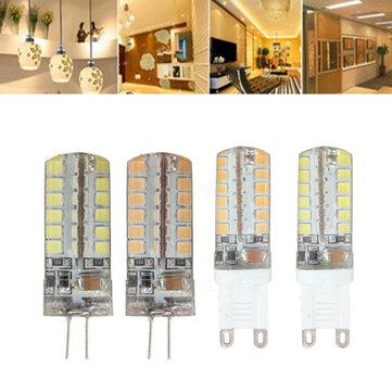 G9 G4 7 วัตต์ 48 SMD 2835 LED หลอดไฟนีออนสีขาวอบอุ่นขาวหลอดไฟ AC 220V