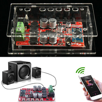 TDA7492P 50W+50W Wireless Bluetooth 4.0 Audio Digital Amplifier Board With Case
