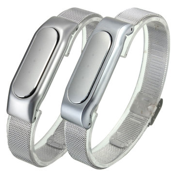 Adjule Metal Silver Replacement Wristband Bracelet For Xiaomi Miband 1s