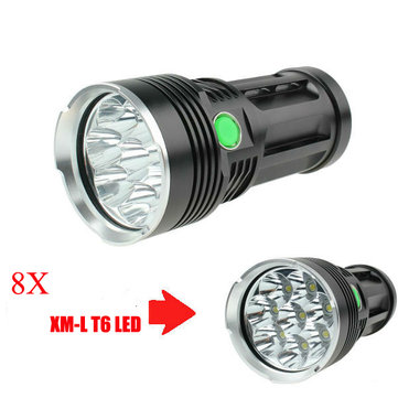 Skyray King 8x T6 10000Lumens Super Bright LED Flashlight