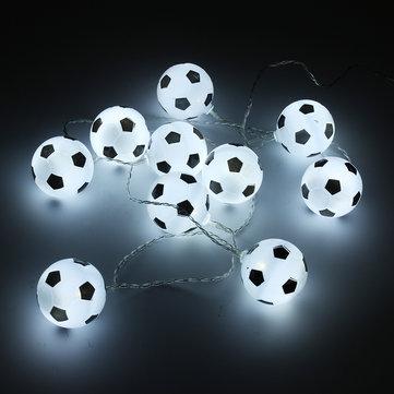 バッテリー駆動白10LEDフットボールフェアリーホリデーストリングライトパーティー装飾ランプ