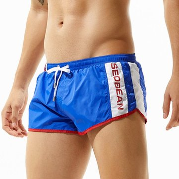 SEOBEAN Summer Casual Lounge Home Sport Arrow Pants Beach Board Shorts for Men