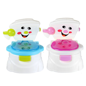 2 In1 Portable Kids Baby Toilet Trainer Child Toddler Potties Training Seat Fun Chair