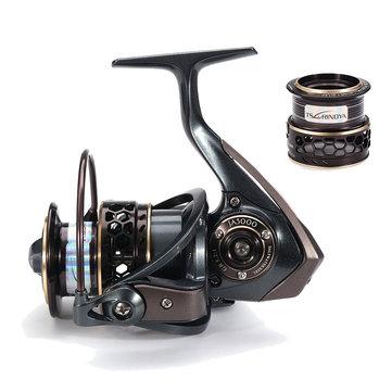 Trulinoya JAGUA R 3000 5.2:1 9+1BB Double Spool Spinning Fishing Reel Saltwater Carp Fishing Reel