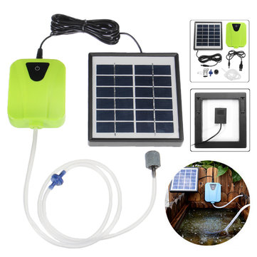 2.5W Oxygenator Air Pump Outdoor Solar Power Pond Aquarium Fish Tank Pool Pump