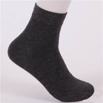 Men Dot Pattern Cotton Warm Casual Business Classic Dress Socks