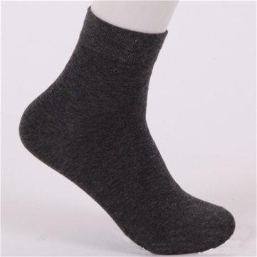 Men Dot Pattern Cotton Warm Casual Business Classic Dress Socks
