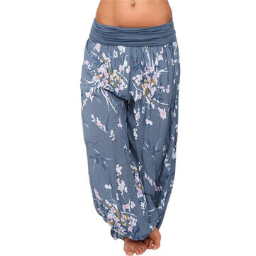 Casual Women Wide Leg Floral Print Trouser Pants