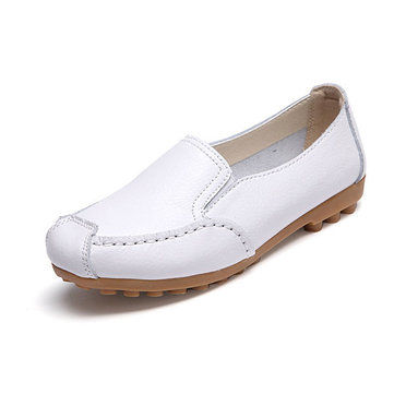 Women Casual Soft Sole Flat Loafers Slip On Driving Flat Shoes