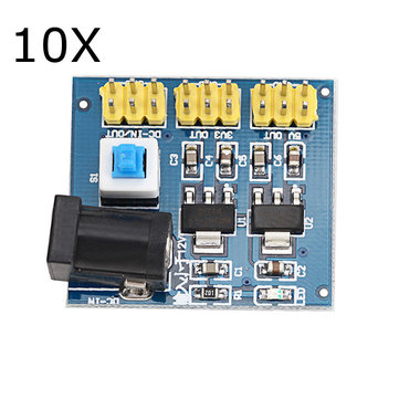 10Pcs DC-DC 12V to 3.3V/5V/12V Voltage Converter Power Supply Module