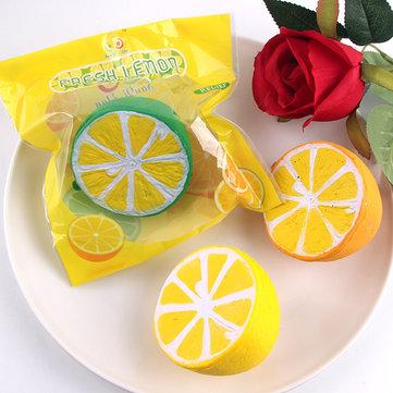 Sanqi Elan Squishy Lemon 6cm Slow Rising Original Packaging Fruit Collection Gift Decor Toy