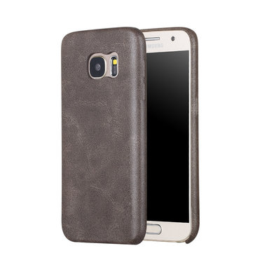 Bakeey™ Retro Soft PU Leather Ultra Thin Shockproof Case Back Cover For Samsung Galaxy S7