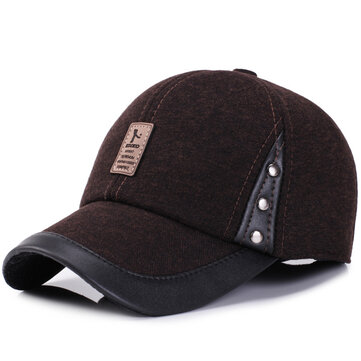 Men Women Winter Woolen Fabric Baseball Cap Peaked Cap