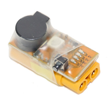 In Line Battery Voltage Alarm with LED XT60 Plug For 2-6s Lipo Battery