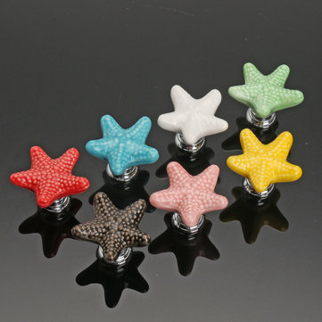 Star Ceramic Furniture Knobs Drawer Cabinet Cupboard Pulls Handle for Kids Bedroom
