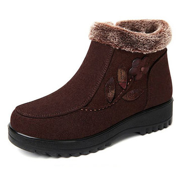 Winter Keep Warm Flower Boots