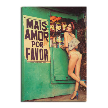 Sexy Girl Poster Kraft Paper Wall Poster Sticker DIY Wall Art 21 inch X 14 inch