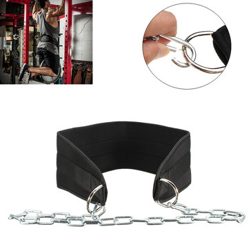 Weight Lifting Dip Belt Gym Sport Waist Strength Training Pull Up Power Chain Camping Hiking Fitness