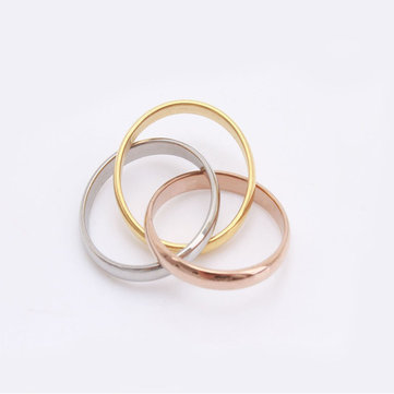 Creative Trendy Irregular Stainless Steel Ring For Women