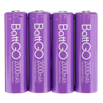 4Pcs ISDT 1.5V 2000mAh Rechargeable AA Ni MH Battery for ISDT C4 N8 Charger