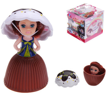 9CM Mini Cupcake Princess Doll Sweet Smell Cup Cake Girls Dolls Funny Playing House Gift