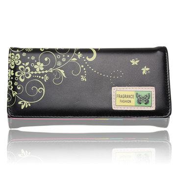 Women Butterfly Purse PU Leather Clutch Wallet Card Holder