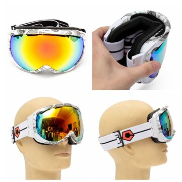 Unisex Anti Fog Revo Dual Lens Winter Racing Outdooors Snowboard Ski Goggles Sun Glassess CRG98-11