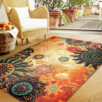 Bohemia Retro Fluffy Anti Skid Shaggy Area Rugs Home Carpet Bedroom Floor Mat