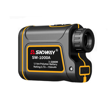 SNDWAY SW-1000A 1000/1500m Distance Meter Rangefinder Waterproof USB Rechargeable Hunting Campact Range Finder Spotting Telescope
