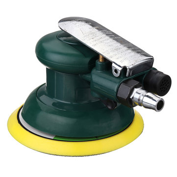 5 Inch Air Palm Orbital Polishing Sander Random Hand Sanding Pneumatic Round Low Vibration