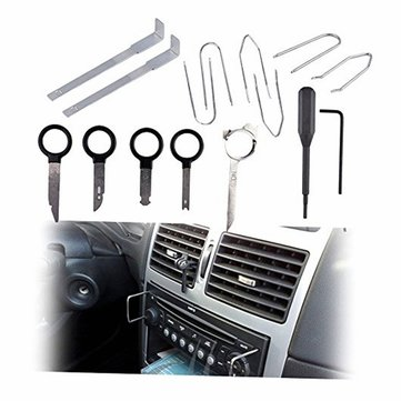 20 Pcs/Set Stainless Steel Car Autos Radio Stereo CD Player Removal Key Tool For BMW For Benz