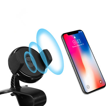 QI Wireless Charger Car Dashboard Holder HUD for iPhone X iPhone Plus Samsung