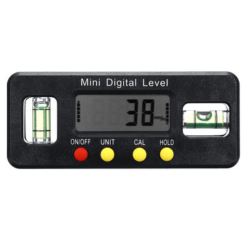 Digital Display Inclinometer Angle Finder Measuring Range 4 x 90° Electronic Spirit Level