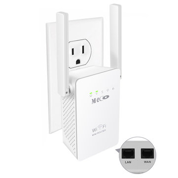 Meco 300Mbps Wireless WiFi Repeater Network Router WIFI Signal Extender US EU UK Plug